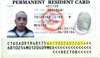 Detecting fake identification documents verify i 9 llc fake permanent resident card pronofoot35fo Gallery